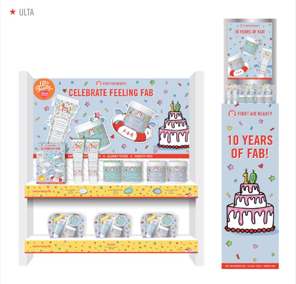 FAB 10years Birthday Display ULTA