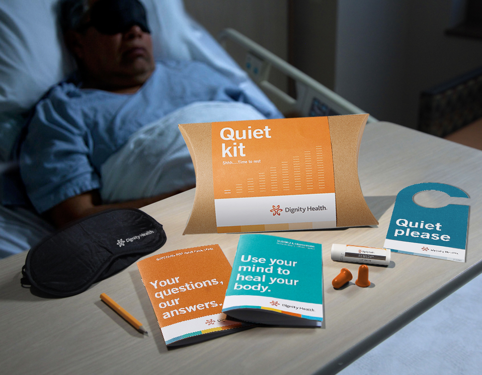 Dignity Patient Quiet Kit Items