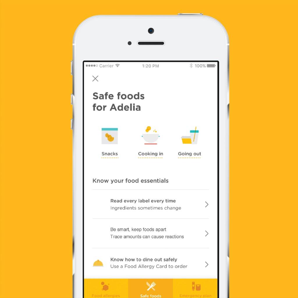 Belay Safe Foods App