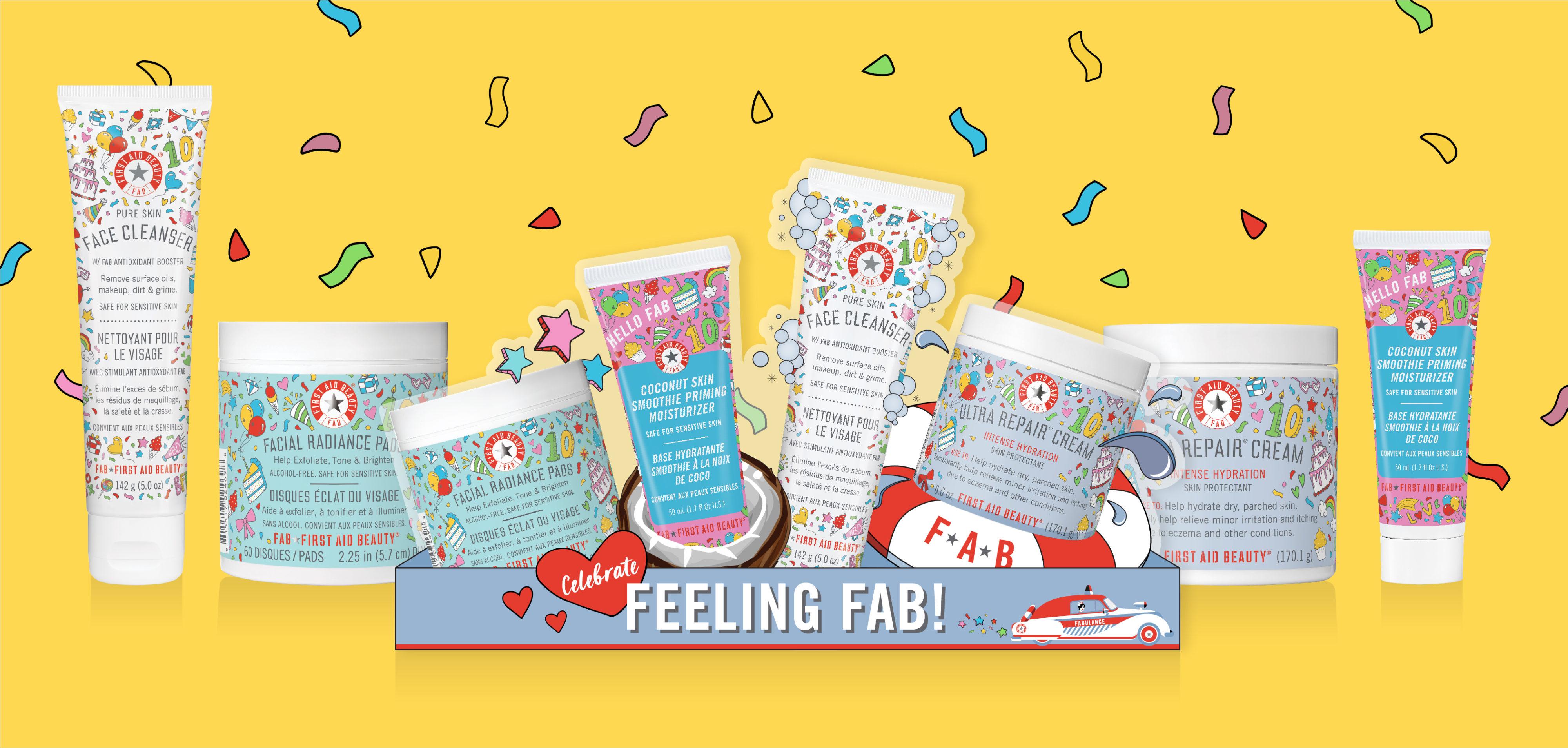 FAB 10Years Birthday display