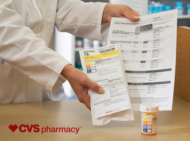 CVS med schedule & packaging