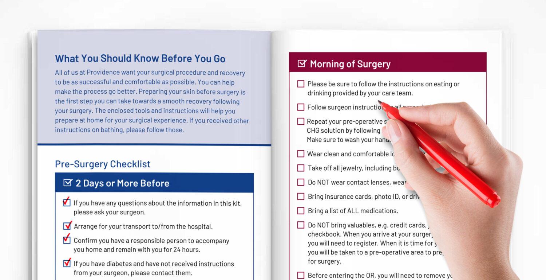 Providence SSI Book checklist